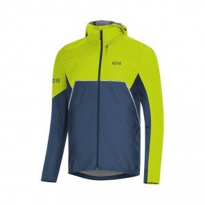 GORE® Veste à capuche R7 Partial GORE-TEX INFINIUM™ Homme | Deep Water Blue/Citrus Green