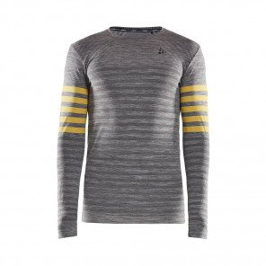 CRAFT Tee-Shirt Manches Longues Fuseknit Comfort Blocked Homme | Dk Greychine
