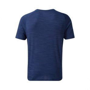 RONHILL T-SHIRT MANCHE COURTE INFINITY AIR DRY S/S Homme | MIDNIGHT BLUE/FLAME